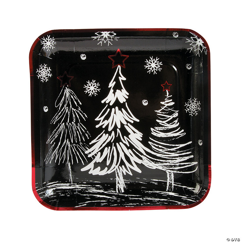 Chalkboard Christmas Paper Dinner Plates - 8 Ct. Audio Thumbnail
