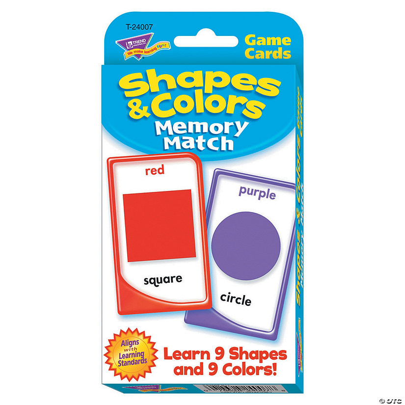 Challenge Cards® Shapes & Colors Memory Match - 56 cards per pack, 12 packs