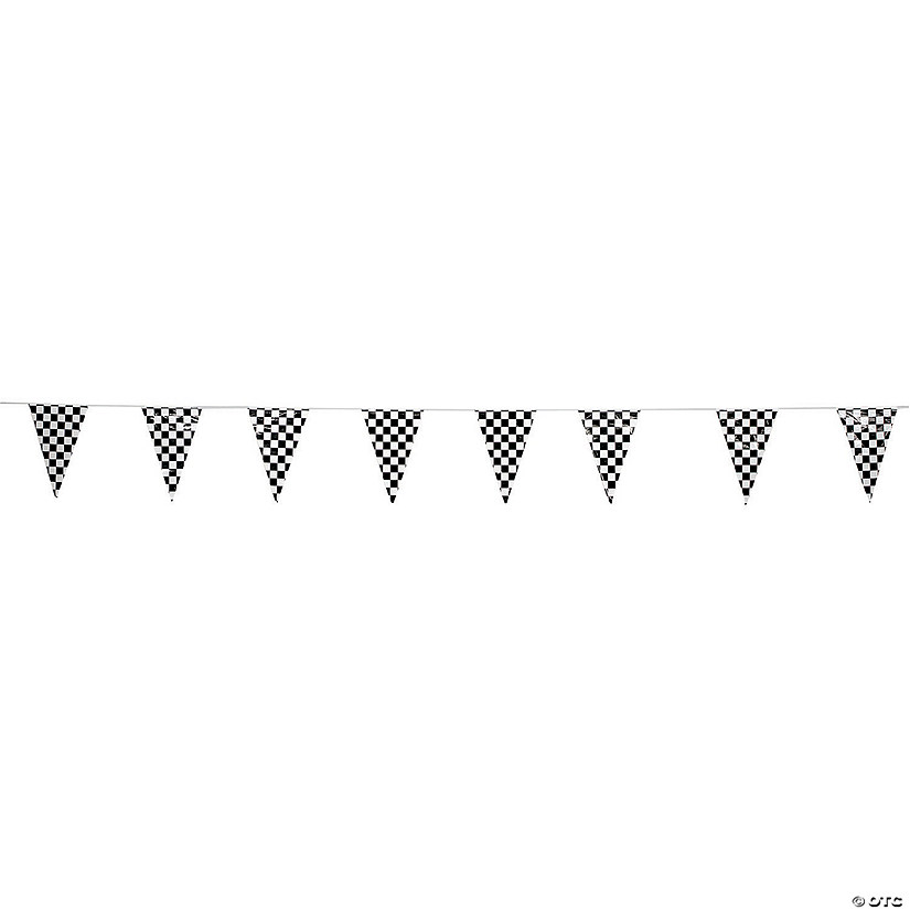 Checkered Plastic Pennant Banner Audio Thumbnail