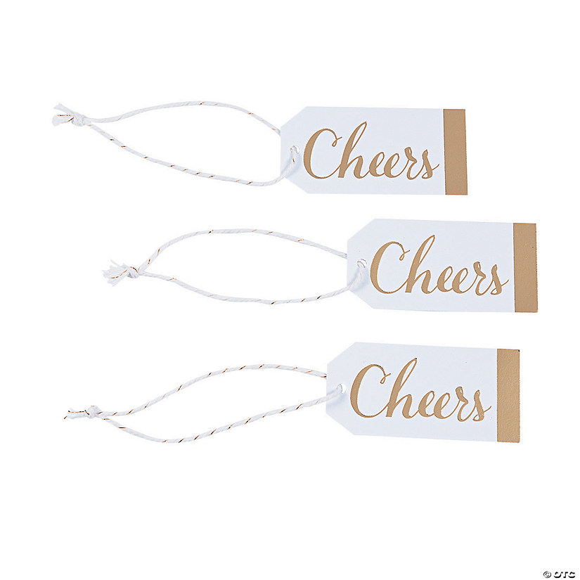 Cheers Gold & White Favor Tags Audio Thumbnail