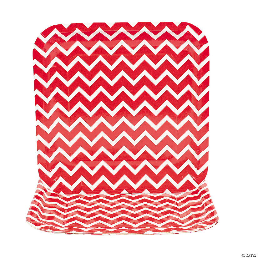 Chevron Red Paper Dinner Plates Audio Thumbnail
