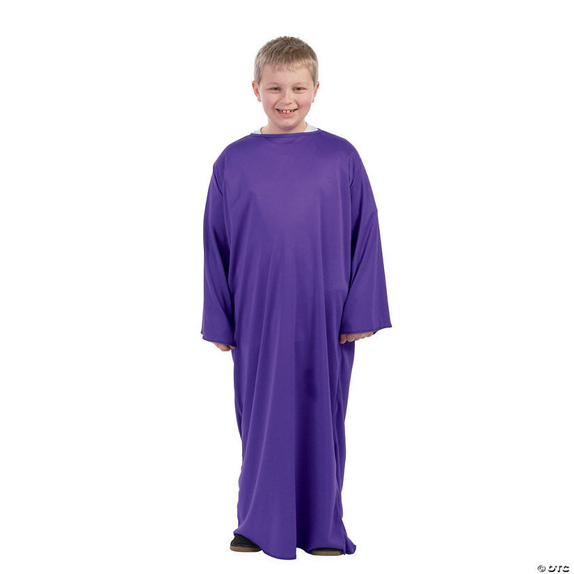 Child's Purple Nativity Gown