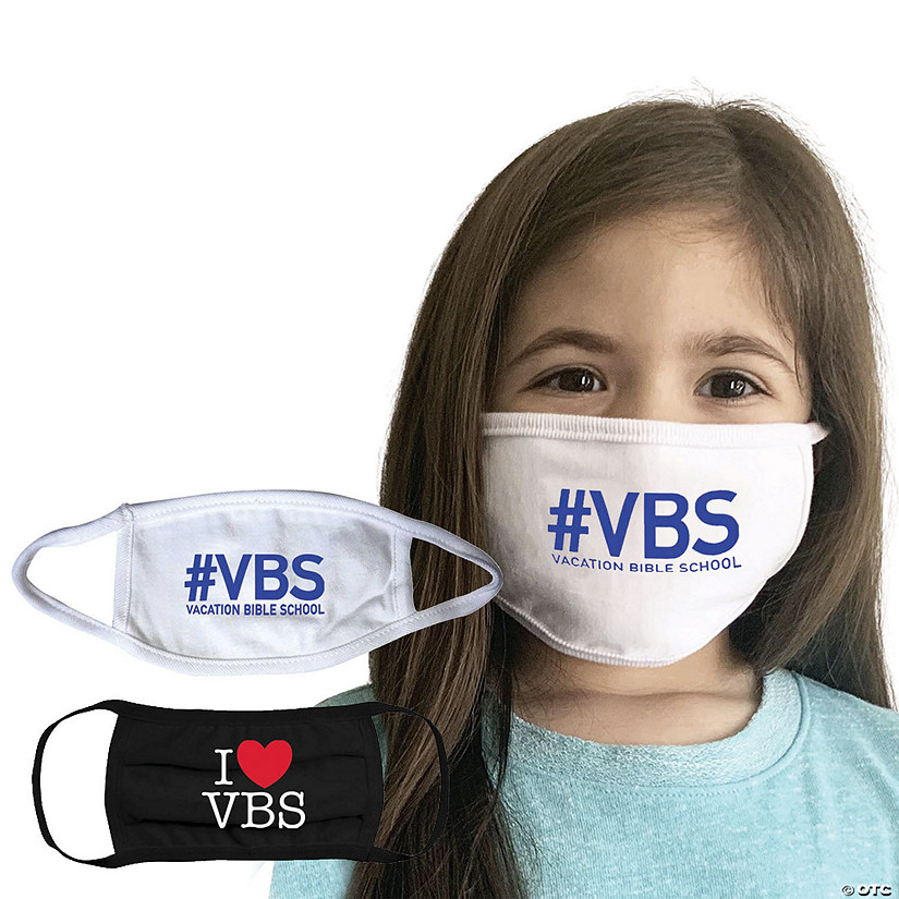 Child's Washable VBS Face Masks - 2 Pc. Image Thumbnail