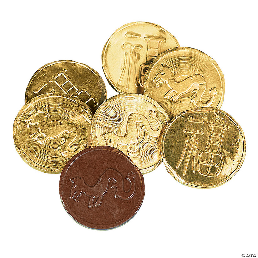 Chinese New Year Gold Chocolate Candy Coins Image Thumbnail