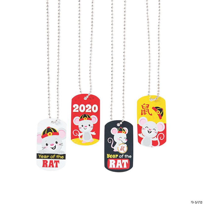 Chinese New Year of the Rat Dog Tag Necklaces Audio Thumbnail