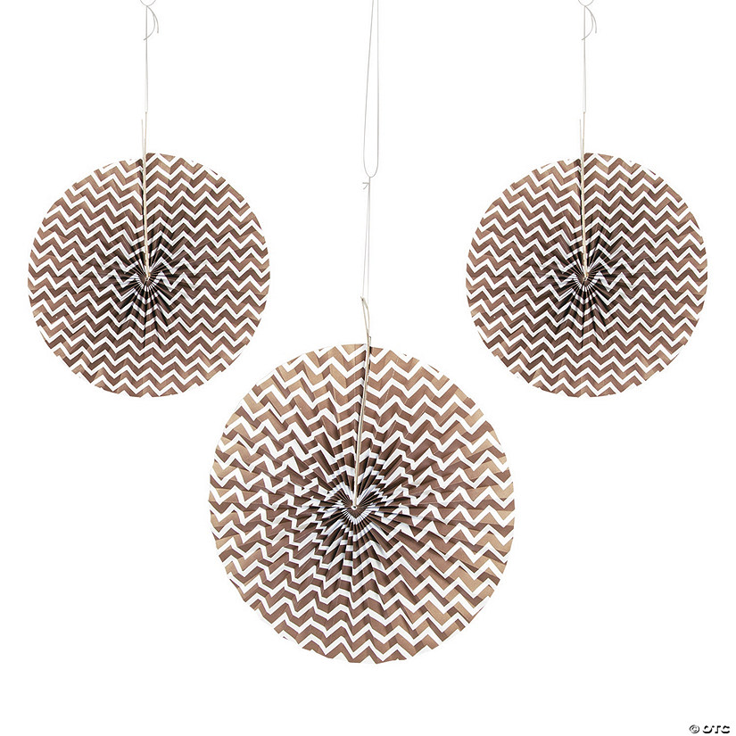 Chocolate Brown Chevron Hanging Fans Audio Thumbnail