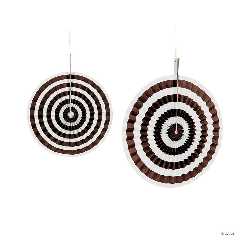 Chocolate Brown Stripe Hanging Fans