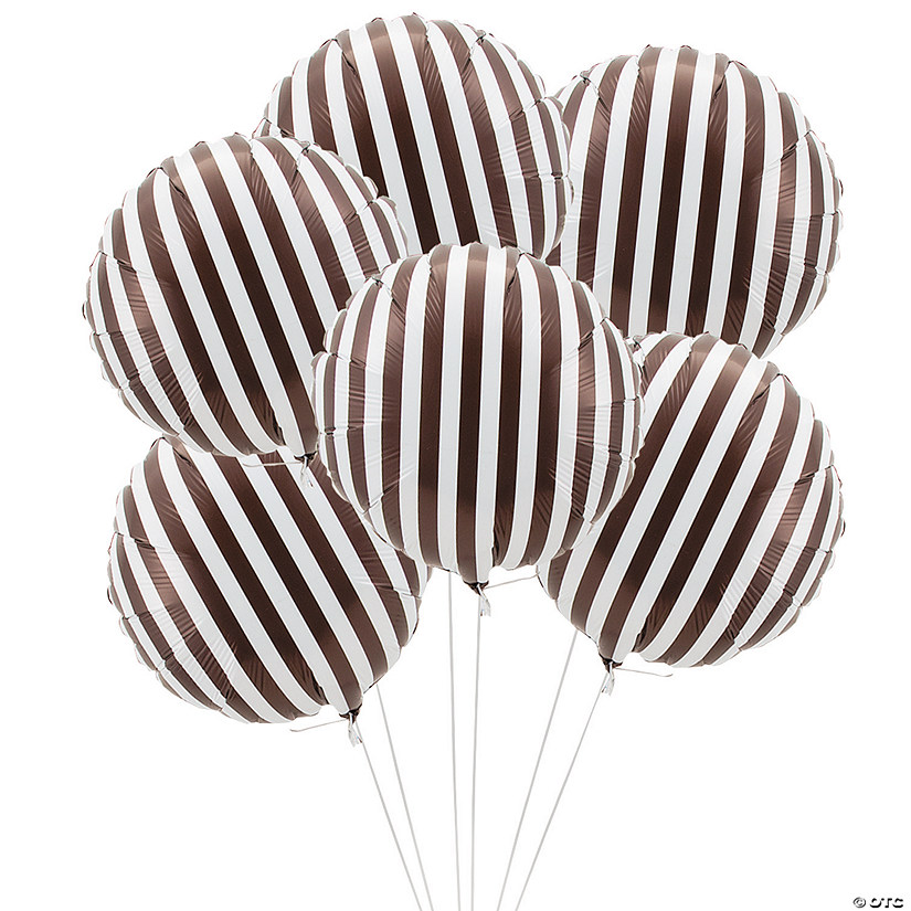 chocolate striped mylar balloons