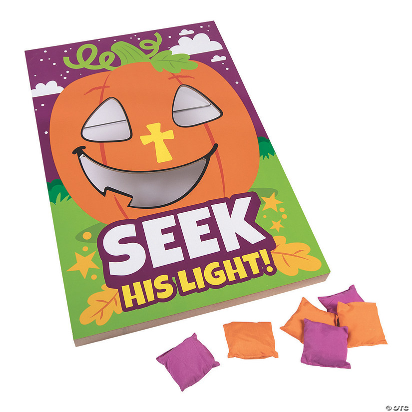 Christian Pumpkin Bean Bag Toss Game Image Thumbnail