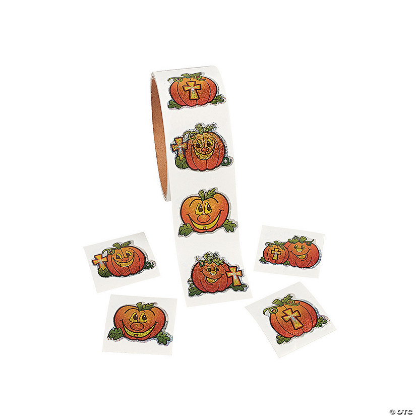 Christian Pumpkin Stickers Image Thumbnail