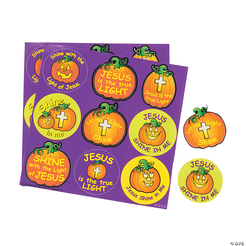 Christian Pumpkin Treat Sticker Sheets Image Thumbnail