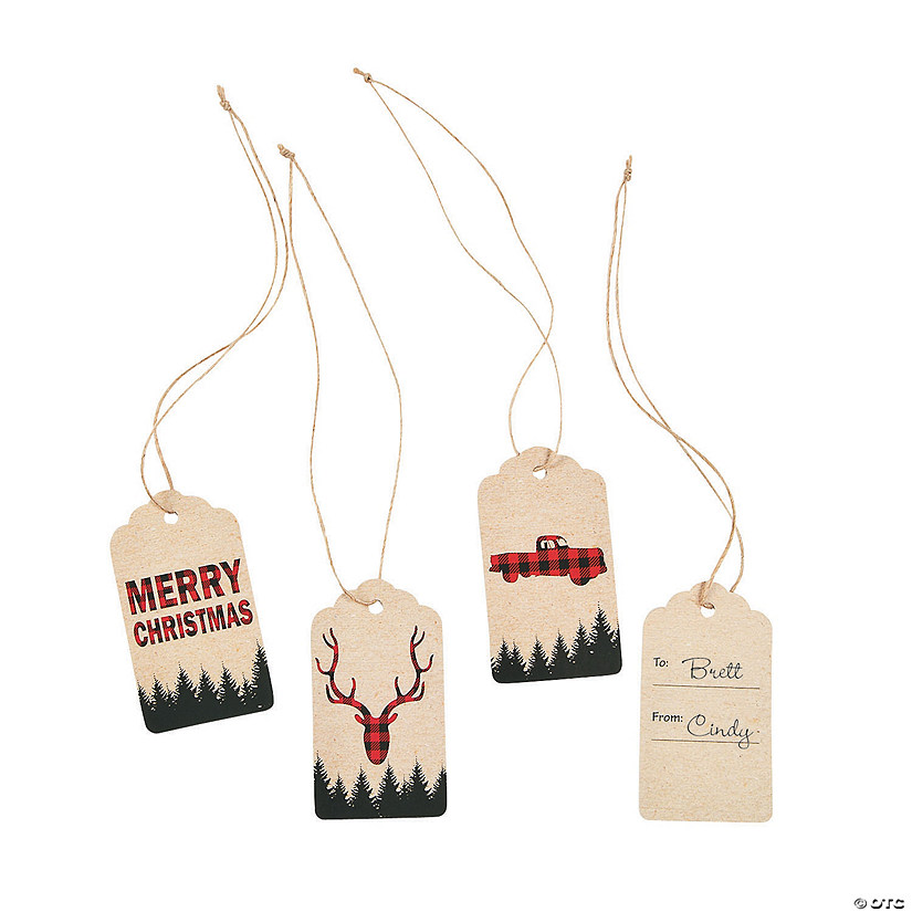 Christmas Buffalo Plaid Gift Tags