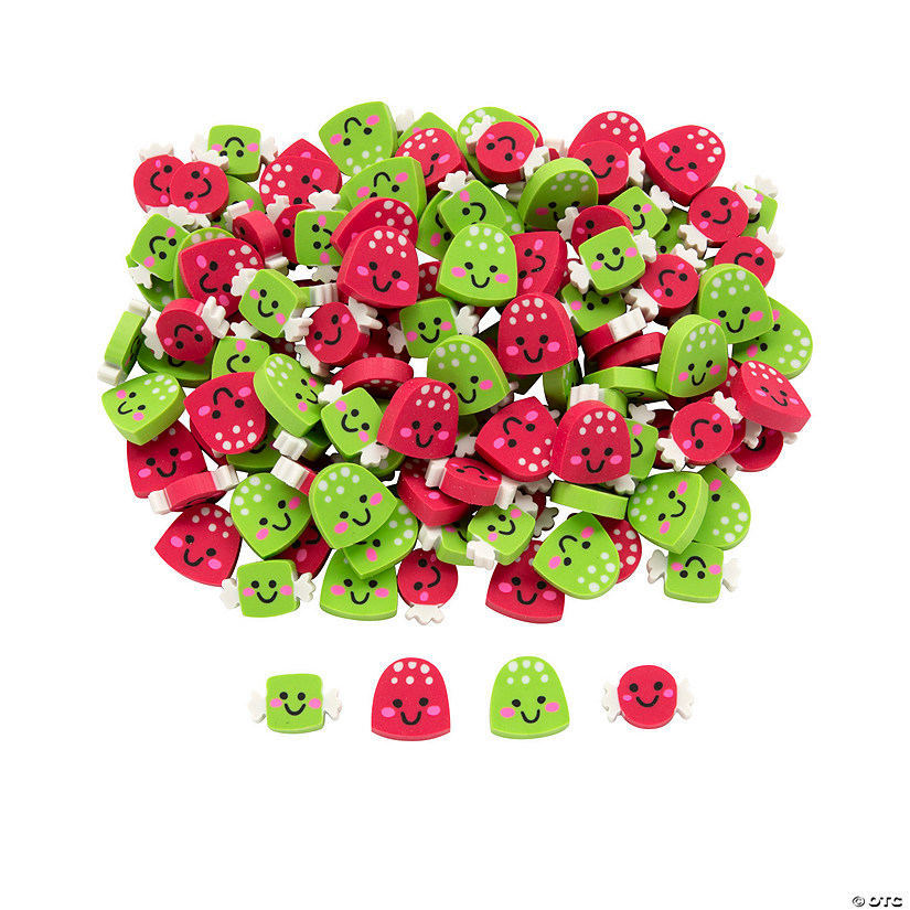 Christmas Candy Erasers Image Thumbnail