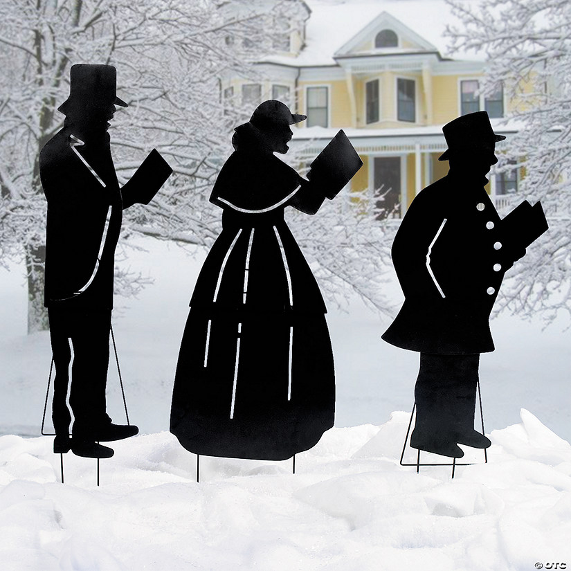 Christmas Carolers Yard Decorations: Christmas Caroler Yard Stakes