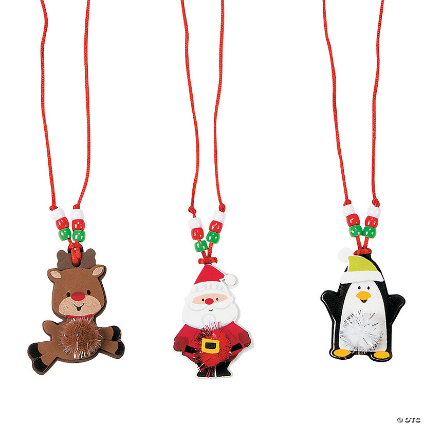 Christmas Character Pom-Pom Necklace Craft Kit
