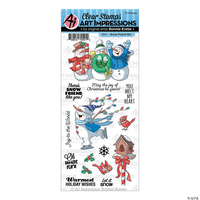 Christmas Stamps.Christmas Clear Stamps Snow Friend