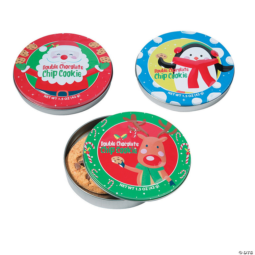 Christmas Cookies in Single-Serve Tins