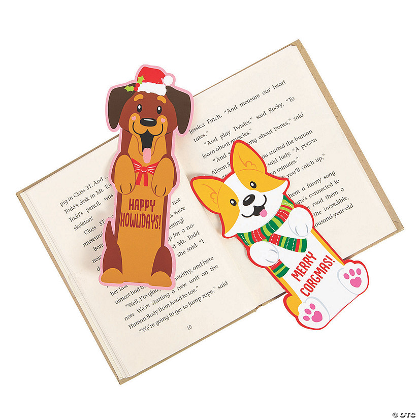 Christmas Dog Bookmarks Image Thumbnail