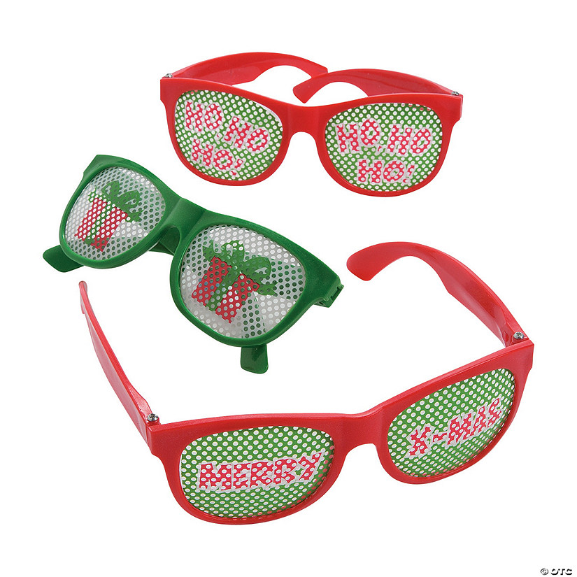 Christmas Fun Pinhole Glasses Image Thumbnail