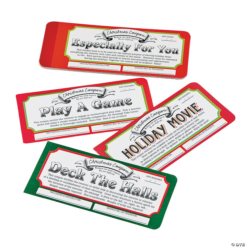 Christmas Gift Coupon Books Discontinued