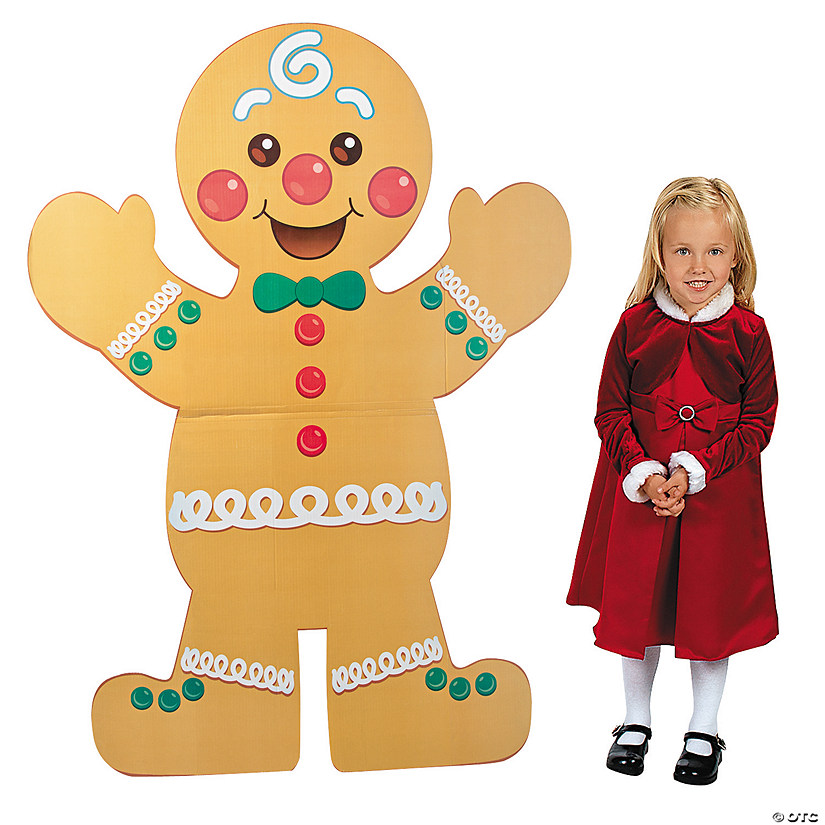 Christmas Gingerbread Man Cardboard Stand-Up Audio Thumbnail