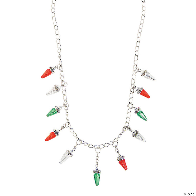 Christmas Light Necklace.Christmas Light Bulb Necklace Craft Kit Discontinued