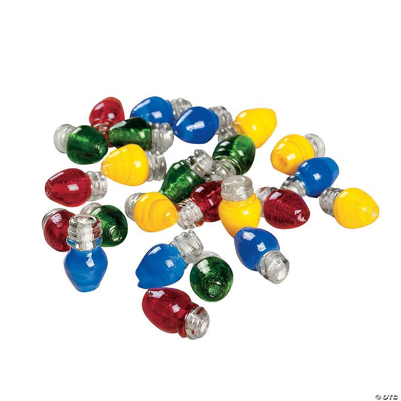 christmas lights beads 8mm x 13mm