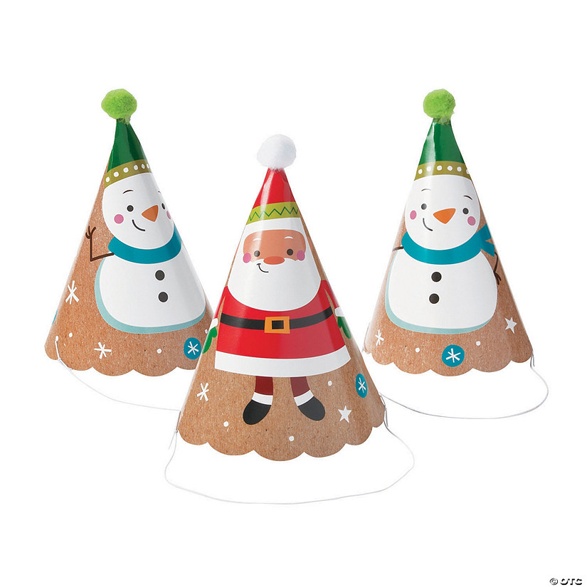 Christmas Pom-Pom Party Hats