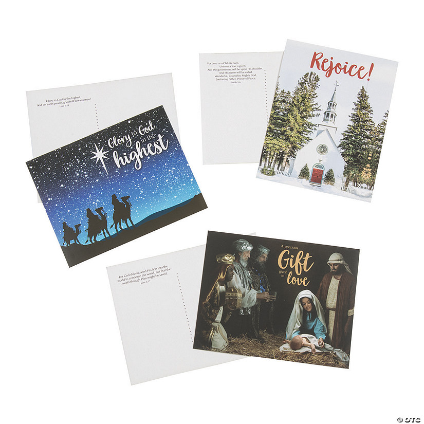 Christmas Postcards with Bible Verse