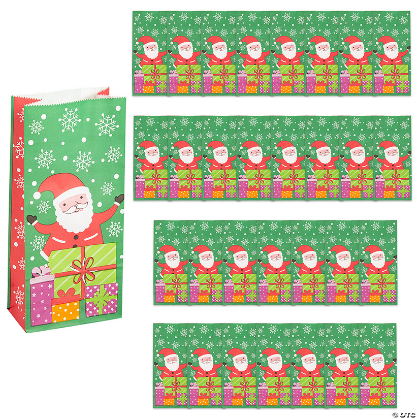Christmas Santa Paper Treat Bags Image Thumbnail