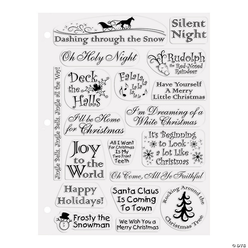christmas songs clear stamps - Black Christmas Songs