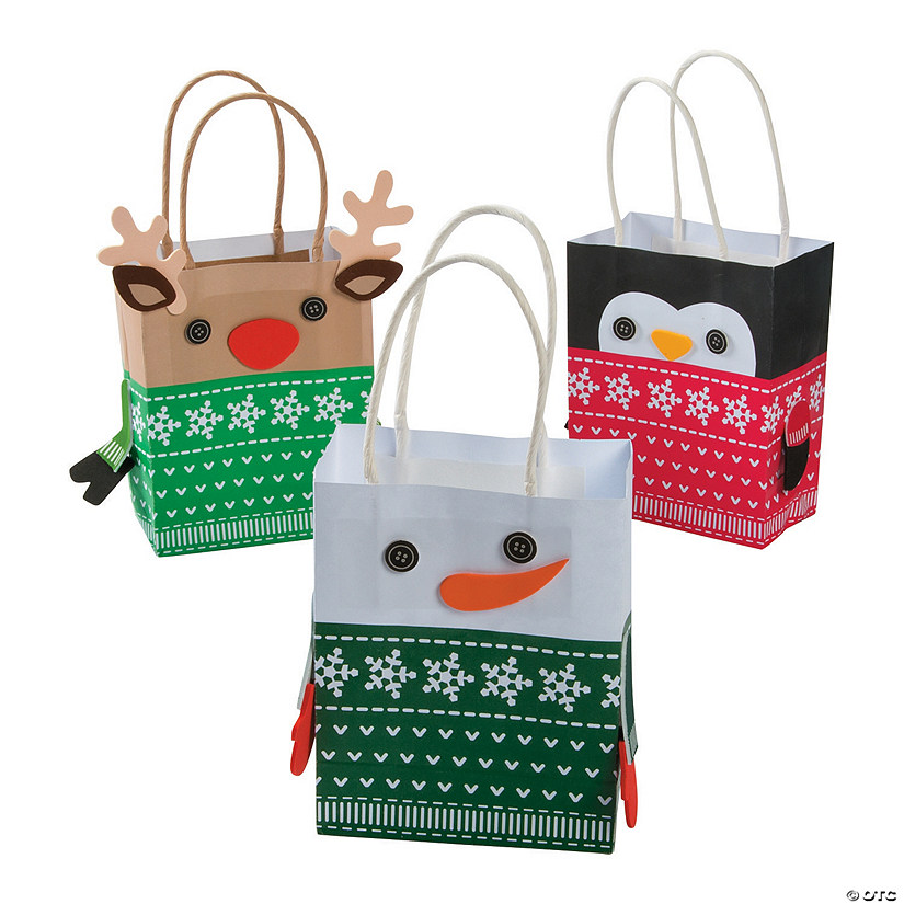 Christmas Sweater Character Small Gift Bag Craft Kit Audio Thumbnail
