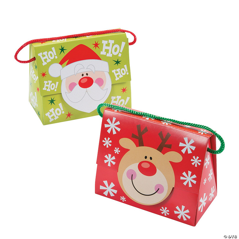 Christmas Tent Favor Boxes with Handle