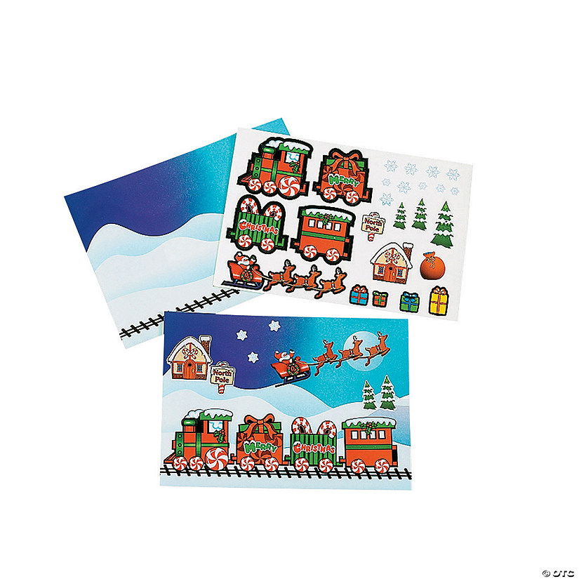 Christmas Train Mini Sticker Scenes Image Thumbnail