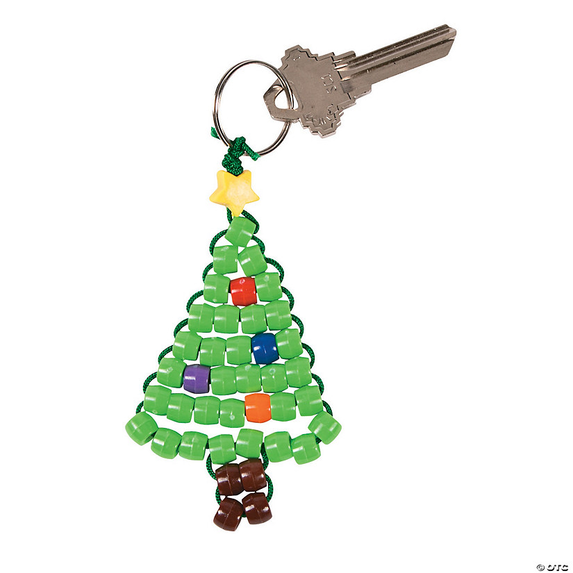 Christmas Tree Beaded Key Chain Craft Kit - Christmas Tree Beaded Key Chain Craft Kit - Discontinued