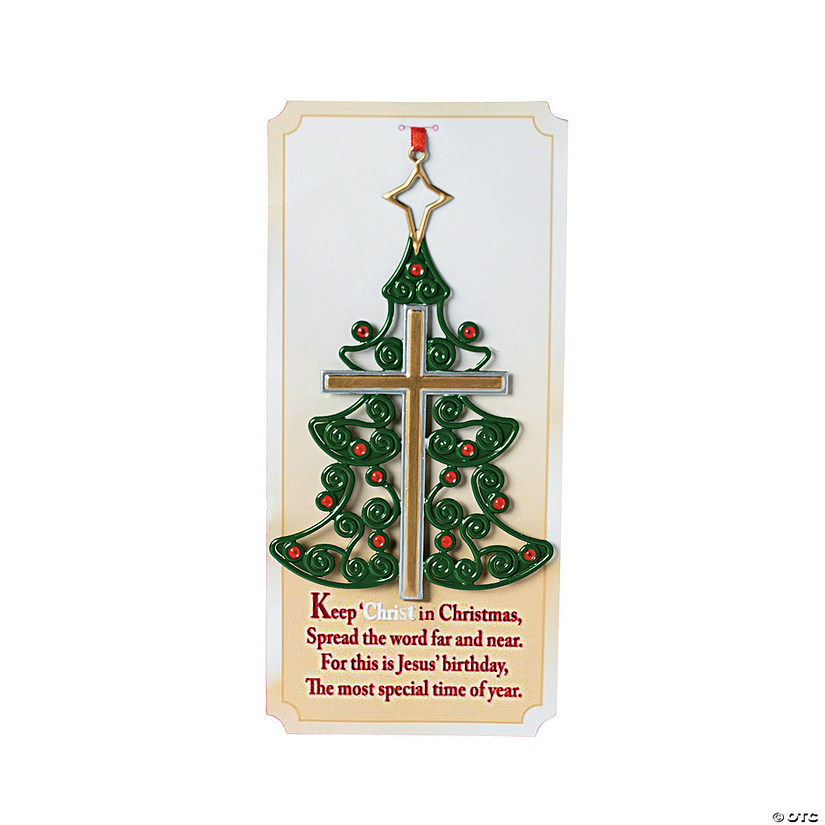 - Christmas Tree Cross Ornaments With Card