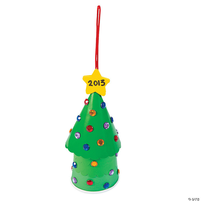 Christmas Tree Cup Container Craft Kit - Less Than Perfect Image Thumbnail