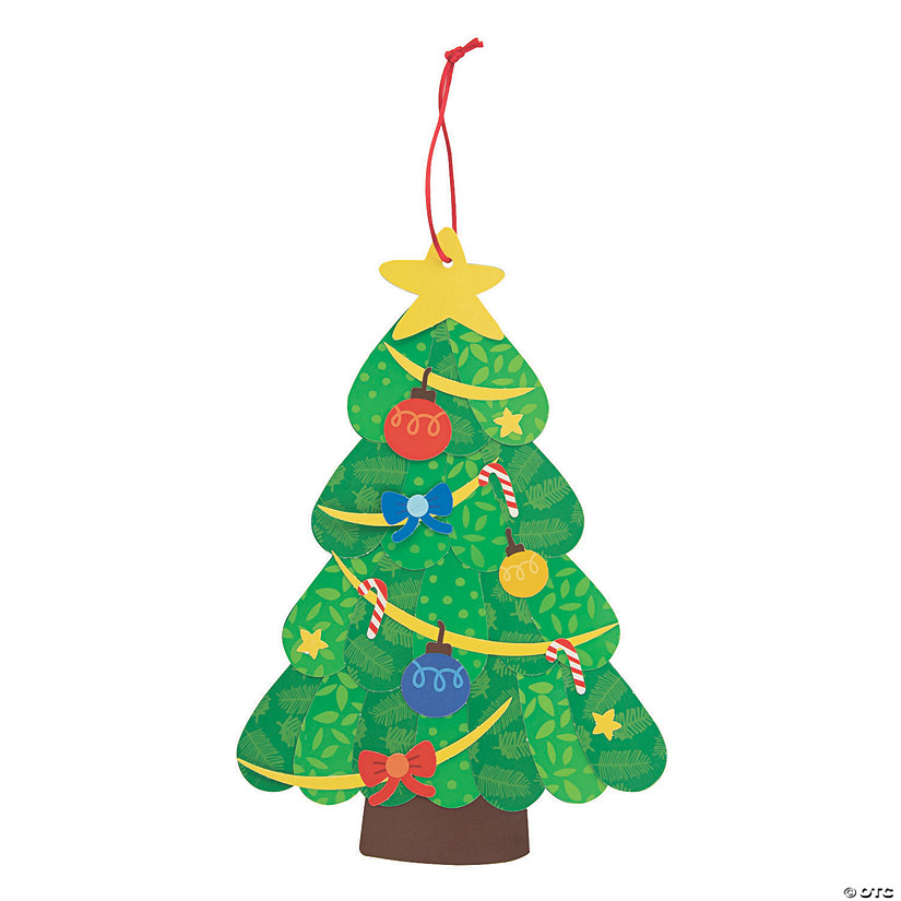 Christmas Tree Ornament Craft Kit Image Thumbnail