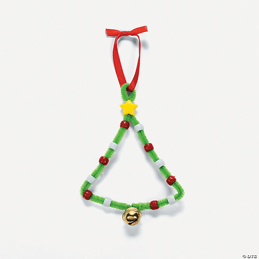 Christmas Tree Pony Bead Ornament Craft Kit - Christmas Tree Pony Bead Ornament Craft Kit - Discontinued