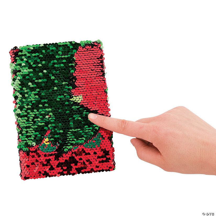 Christmas Tree Reversible Sequins Notebook Audio Thumbnail