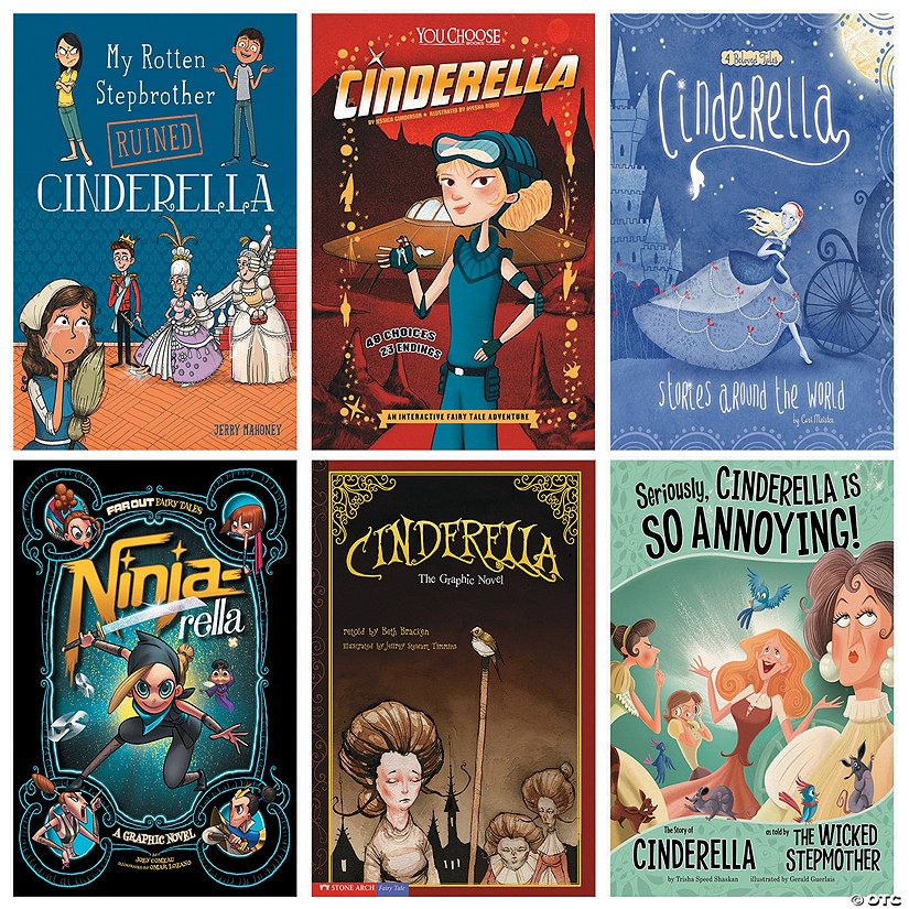 Cinderella Global Fractured Fairy Tales Book Set Image Thumbnail