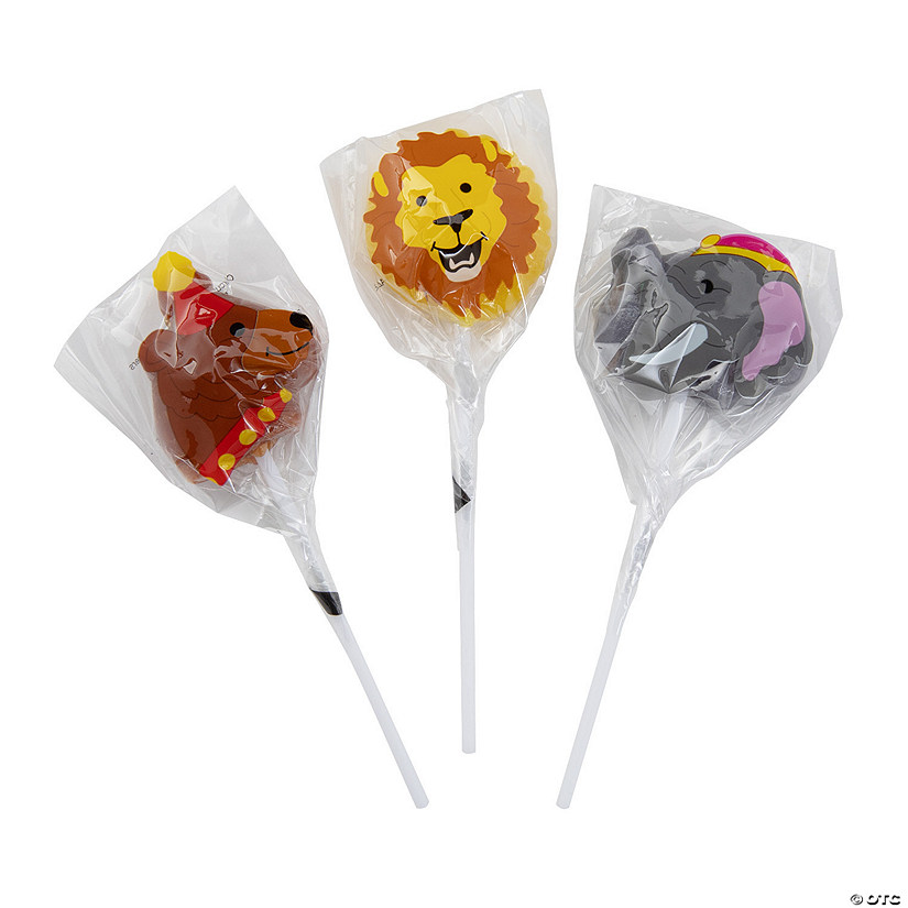 Circus Animal Character Lollipops Image Thumbnail