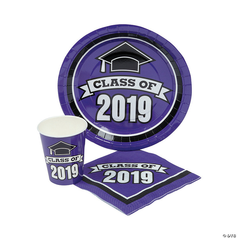 Class of 2019 Purple Tableware Set for 100 Audio Thumbnail