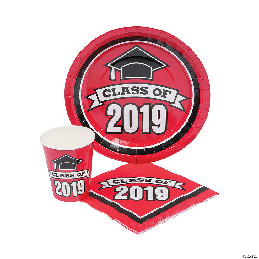 Class of 2019 Red Tableware Set for 100 Audio Thumbnail