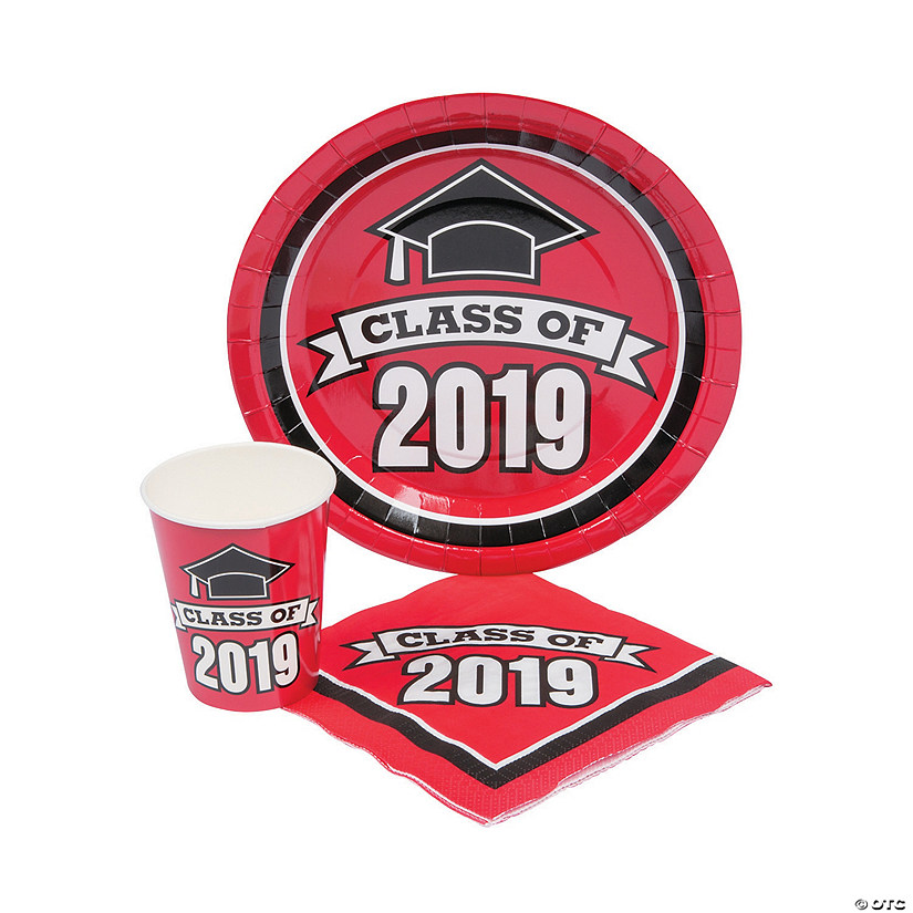 Class of 2019 Red Tableware Set for 50 Audio Thumbnail