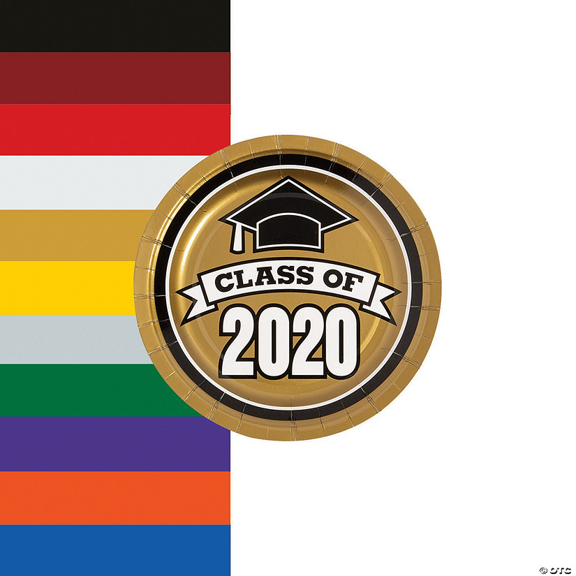 Class of 2020 Paper Dessert Plates - 25 Ct. Audio Thumbnail