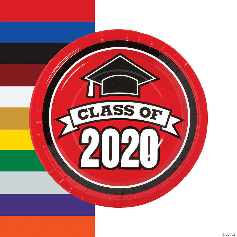 Class of 2020 Paper Dinner Plates - 25 Ct. Audio Thumbnail