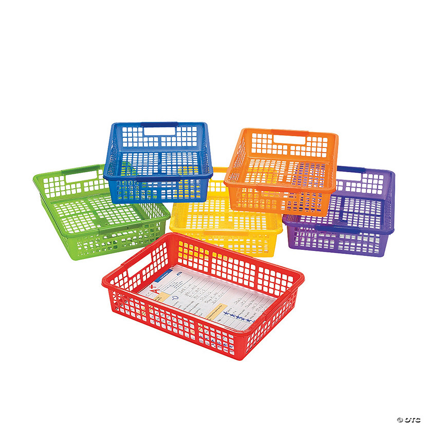Classroom Storage Baskets with Handles Audio Thumbnail