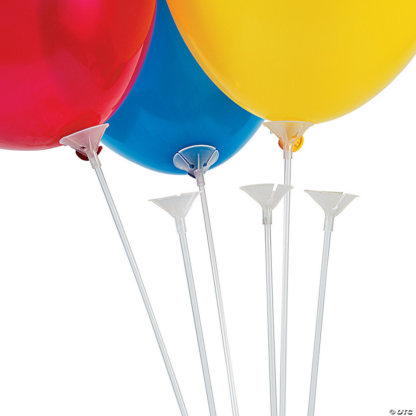 Clear Balloon Sticks with Cup