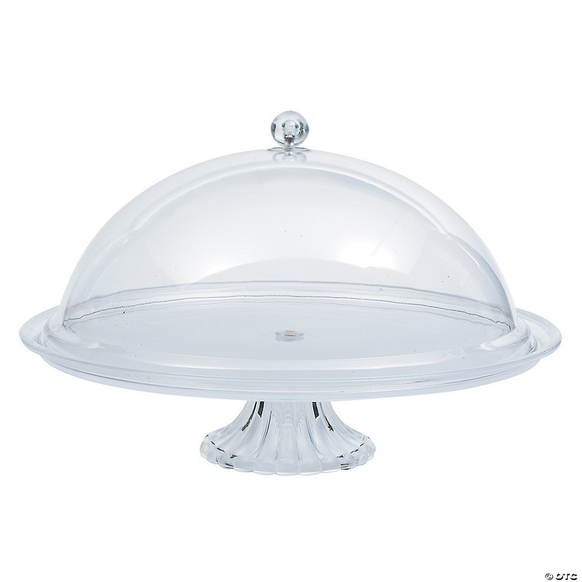 Clear Cake Stand with Domed Cover